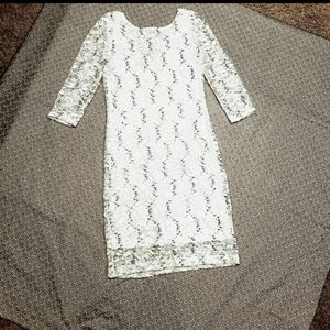 [onyx] white sequin cocktail dress
